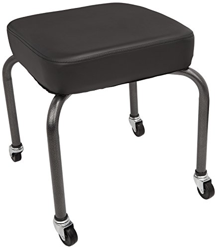 Sammons Preston Square Therapy Stool, Black, Cushion Seat for Office, Clinical, or Home Use, Comfortable Seat Design for Back, Spine, Lower and Upper Lumbar Support, Foam Padding for Support