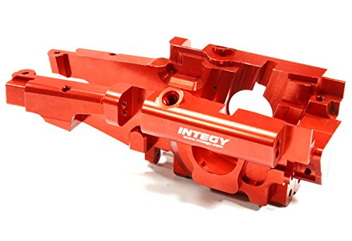 Integy RC Model Hop-ups T3296RED Billet Machined Rear Bulkhead for 1/10 Traxxas E-Revo Revo 3.3 (Anodized Aluminum Rear Bulkhead)