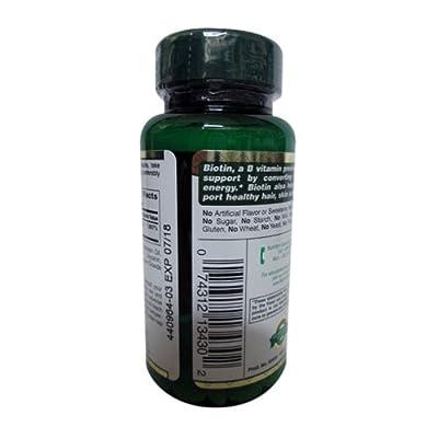Nature's Bounty, Super Potency Biotin, 5000mcg, 72 Count (60 + 12 bonus)