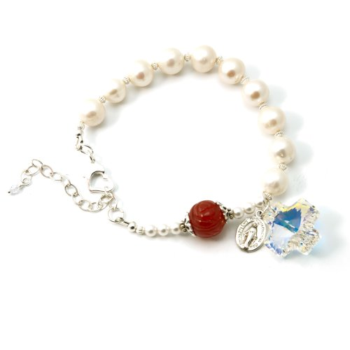 Freshwater Cultured Pearls with Clear Sw - Cultured Pearl Rosary Bracelet Shopping Results