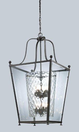 Z-Lite 179-8 Ashbury Eight Light Pendant, Metal Frame, Bronze Finish and Clear Beveled Glass Outside - Pendant Ashbury