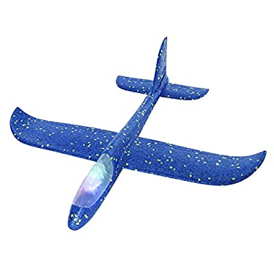 Yinuoday Hand Throw Flying Glider Planes, Airplane Toy for Kids Outdoor Sports 18.5 Large Flying Games Toys Kit Manual Throwing Model Foam Airplane for Boys & Girls: Toys & Games