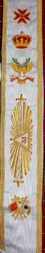 Masonic 33 Degree Sash Hand Embroidery (Embroidery Sash)