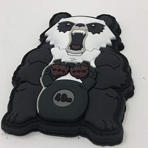 Iron Panda Man Robot Hero Patch Protector Fun Comic