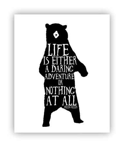Amazon adventure poster life quote helen keller quote bear adventure poster life quote helen keller quote bear silhouette bear poster thecheapjerseys Image collections
