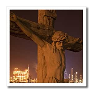 ht_90470_3 Danita Delimont - Statues - Louisiana, Baton Rouge, Statue of Jesus Christ - US19 PSO0003 - Paul Souders - Iron on Heat Transfers - 10x10 Iron on Heat Transfer for White Material