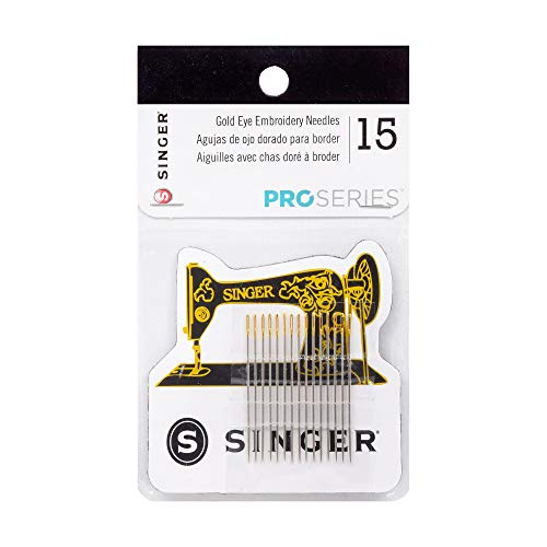 (SINGER 04325 ProSeries Quilter's Embroidery Needles with Magnet, 15-Count)