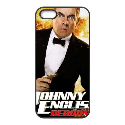 Johnny English Reborn coque iPhone 5 5S cellulaire cas coque de téléphone cas téléphone cellulaire noir couvercle EOKXLLNCD24889