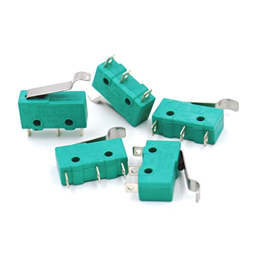 Baomain 5pcs AC 125V 5A Hinge Lever Micro Limit Switch KW4-3Z-3 for Mill (Micro E/z Hinge)