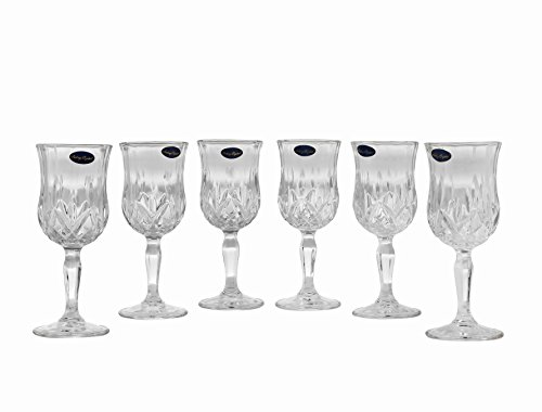 Amlong Crystal Lead Free Cordial Glasses - 5 oz, Set of 6