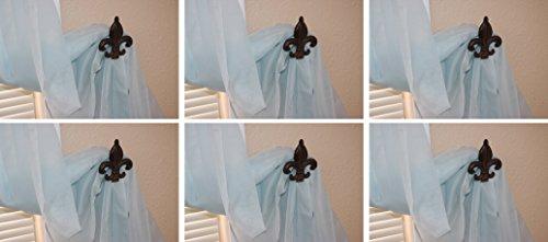 Fleur De Lis Curtain Tie Backs Holdbacks Cast Iron 4