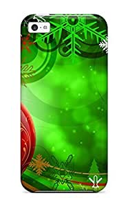 MMZ DIY PHONE CASESeries Skin Case Cover For ipod touch 4(colorful Christmas Decoration)