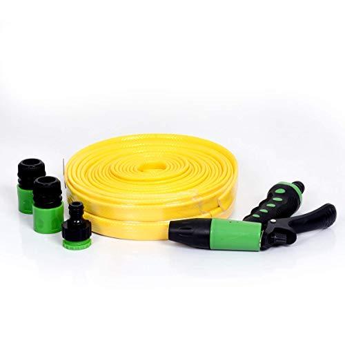 Ad Fresh 50 Feet Expand Flexible Latex Garden Water Hose Pipe with Spray Gun  Standard