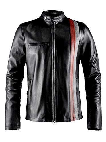 T&I Texas Cyclops X-Men Mens Motorcycle Biker Leather Jacket (Regular Big & Tall)