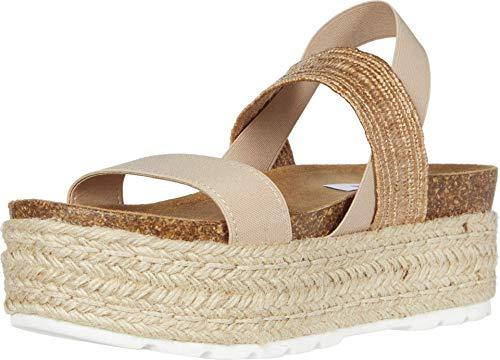 Steve Madden Women's Circa Wedge Sandal, Natural Multi, 9