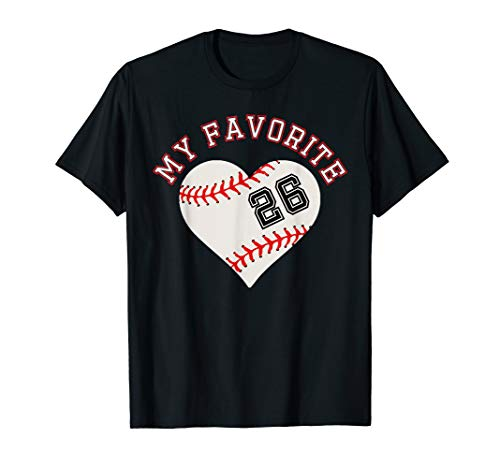 Baseball Player 26 Jersey Outfit No #26  Sports Fan Gift -