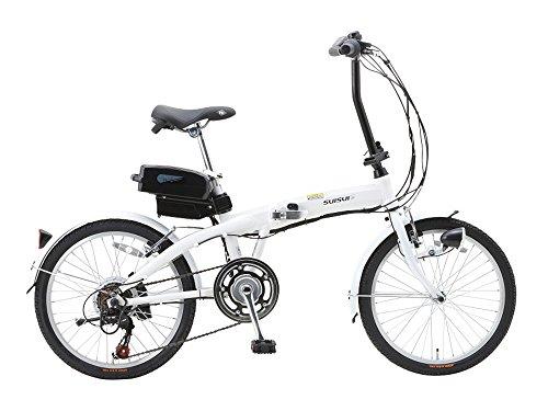 SUISUI(휙휙) 접이식 어시스트 자전거 BM-A30 화이트 3 등LED라이트부 5.8Ah리튬 이온 배터리 탑재 20인치 6 단변속 알루미늄 프레임 28473-1223