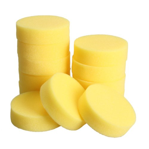 - Vktech 12pcs Polish Wax Round Foam Sponges Applicator Pads for Clean Car Glass