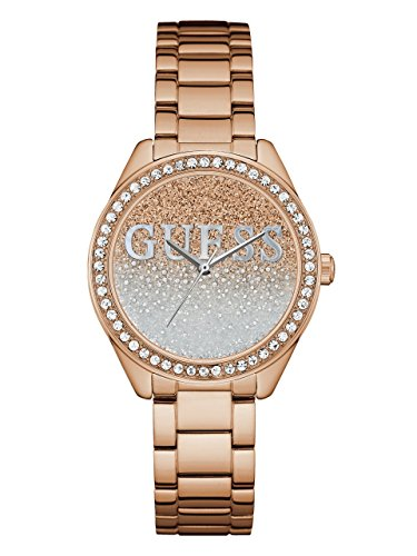 GUESS-Womens-Quartz-Stainless-Steel-Casual-Watch-ColorRose-Gold-Toned-Model-U0987L3