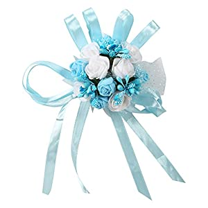 1Pc Wedding Bridal Bridesmaid Wrist Corsage Party Prom Dance Hand Ribbon Flower Decoration Hot 2