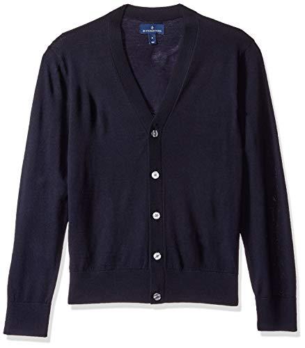 BUTTONED DOWN Men's Italian Merino Wool Lightweight Cashwool Cardigan Sweater, Midnight Navy, XX-Large