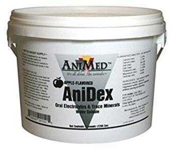 AniMed Anidex Oral Electrolytes and Trace Minerals Powder for Horse, 30-Pound, Apple Flavored