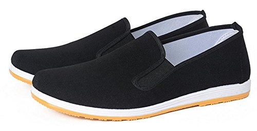 YINHAN Comfortable Slip On Canvas Flats Work Shoes for Men and Women Yellow Sole 37 (Women Canva Shoes)