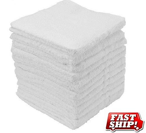 E_GGW New Bright White 12x12 washcloths Hotel 100% Cotton (240 Pack)
