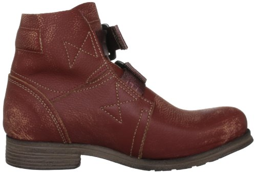 Fly London Ska - Botas biker, color: Negro Rojo