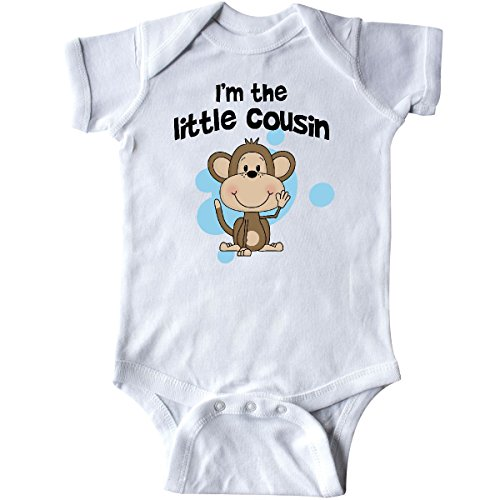 inktastic - I'm The Little Cousin-Monkey-blu Infant Creeper 6 Months White c780