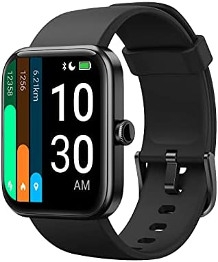 "YAMAY Smart Watch for Android Phones Compatible with iPhone Samsung Phones 2021 Ver., Watch for Men Women with 1.69"" HD Large Screen Alexa Built-in, Blood Oxygen & Heart Rate Monitor 5ATM Waterproof"