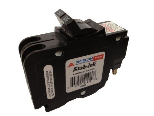 American/Federal Pacific Circuit Breaker, 2-Pole 50-Amp Thin (Thin Federal Pacific Breaker)