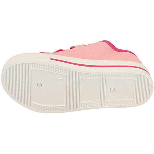 Filles Enfants ANNA ELSA Paillette Toile Velcro Baskets Tennis By Frozen - Rose - MLPLYNMOUTH, UK 10/EU 28 - Pre School