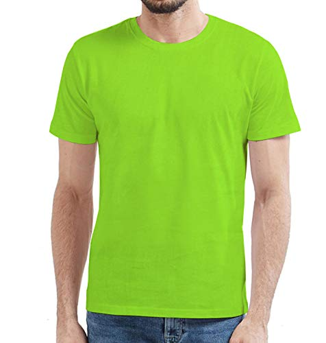 Miracle(Tm) Athletic Neon Color High Visibility Shirt - Adult Green Wicking Mens Running T Shirt (M)