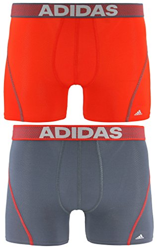 adidas Men's Sport Performance Climacool Trunks Underwear (2-Pack), Red, X-Large