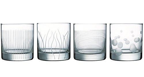 Luminarc 16008 Serie Lounge Club, Whiskyglas 38 cl Set 4 teilig