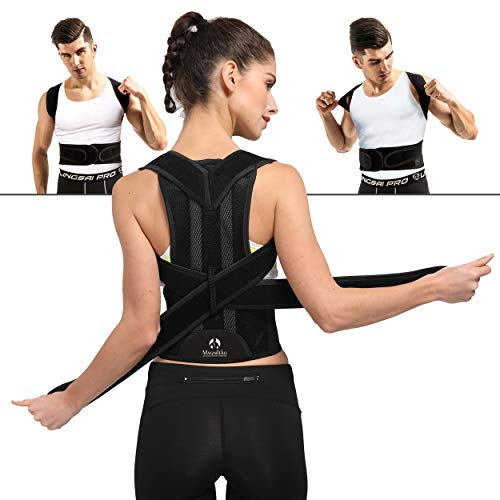 Comfortable Back Brace Posture Corrector for Men and Women Adjustable Support Brace Provides Lumbar Support L