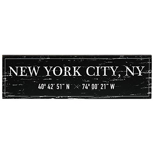 Barnyard Designs New York City Sign Rustic Vintage Wood Wall Art Home Decor 17