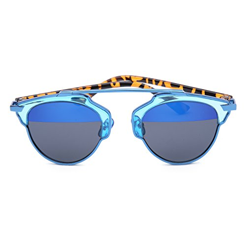 GAMT New Fashion Cateye Polarized Sunglasses For Women Classic Style (blue frame blue-black (My Candy Love 16)