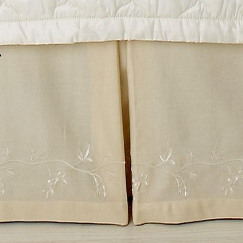 (Martha Stewart Collection Bedding, Chinoiserie King Bedskirt - Color Cream )