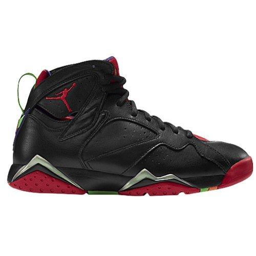 Jordan mens Air Jordan 7 Retro Black/green Pulse/ Cool Grey/University 304775-029 11
