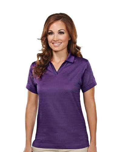Tri-mountain Womens poly UltraCool basket knit johnny collar golf shirt. 402TM - PURPLE_3XL