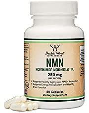 NMN Supplement 250mg Per Serving (Nicotinamide Mononucleotide), to Boost NAD+ Levels for Anti Aging by Double Wood Supplements (60 Capsules)