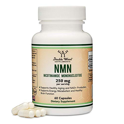 41yr2dfTsBL - NMN Supplement 250mg Per Serving (Nicotinamide Mononucleotide), Third Party Tested, to Boost NAD+ Levels Similarly to Riboside for Anti Aging by Double Wood Supplements (125mg Per Cap, 60 Capsules)