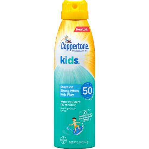 Coppertone KIDS Continuous Sunscreen Spray SPF 50 (Pack of 36)