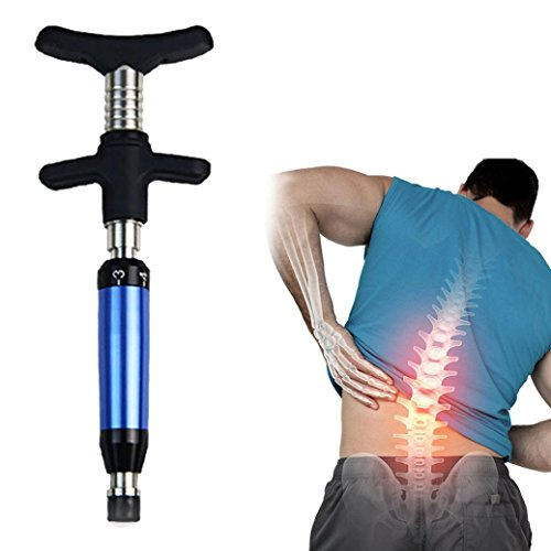Fenleo Spine Chiropractic Adjusting Tool Impulse Adjuster Spinal Chiropractic Activator(Blue)