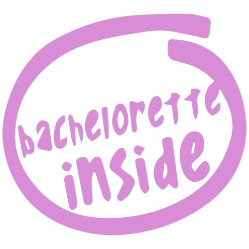 (Bachelorette Inside Decal Sticker (pink), - PEEL and STICK Graphic Sticker - Decorative Bumper Window Laptop Notebook)