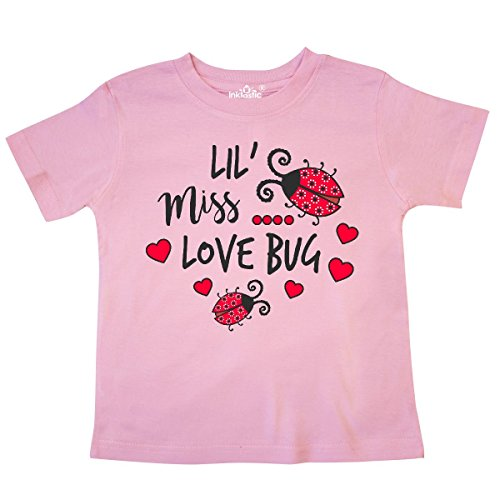 - inktastic - Lil Miss Love Bug with Lady Bug and Toddler T-Shirt 4T Pink 2e562