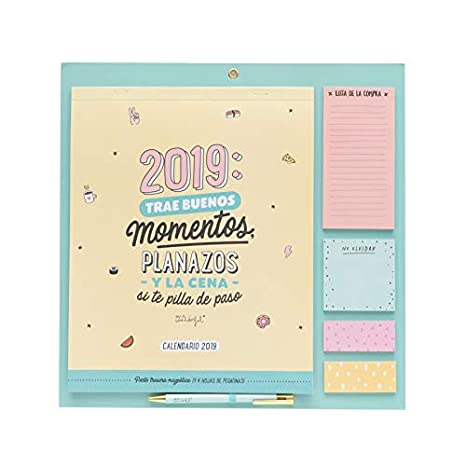 Mr. Wonderful - Calendario magnético para nevera año 2019: Amazon ...