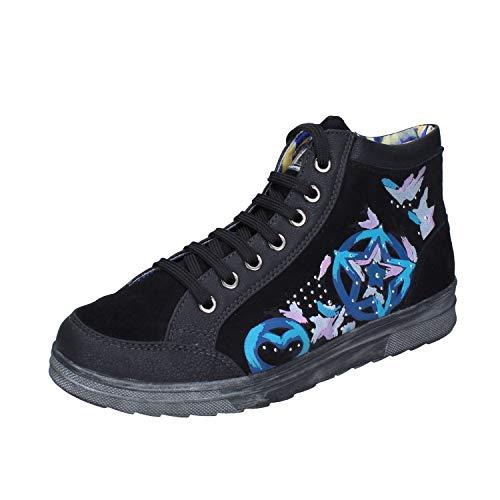 DIDI BLU Fashion-Sneakers Baby-Girls Suede Black 7 US